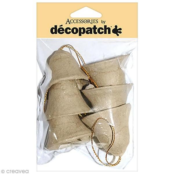 Clochettes 4 cm à décorer - 6 pcs - Photo n°1