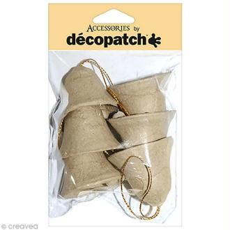 Clochettes 4 cm à décorer - 6 pcs
