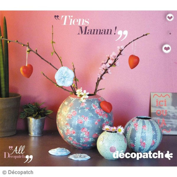 Vase boule 8 cm à décorer - Photo n°2