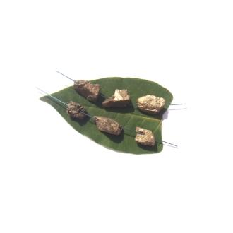 Pyrite brute : 6 Perles irrégulières 1,4 CM à 1,8 CM de longueur