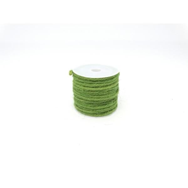 Ficelle de jute 2mm vert jardin - Photo n°1