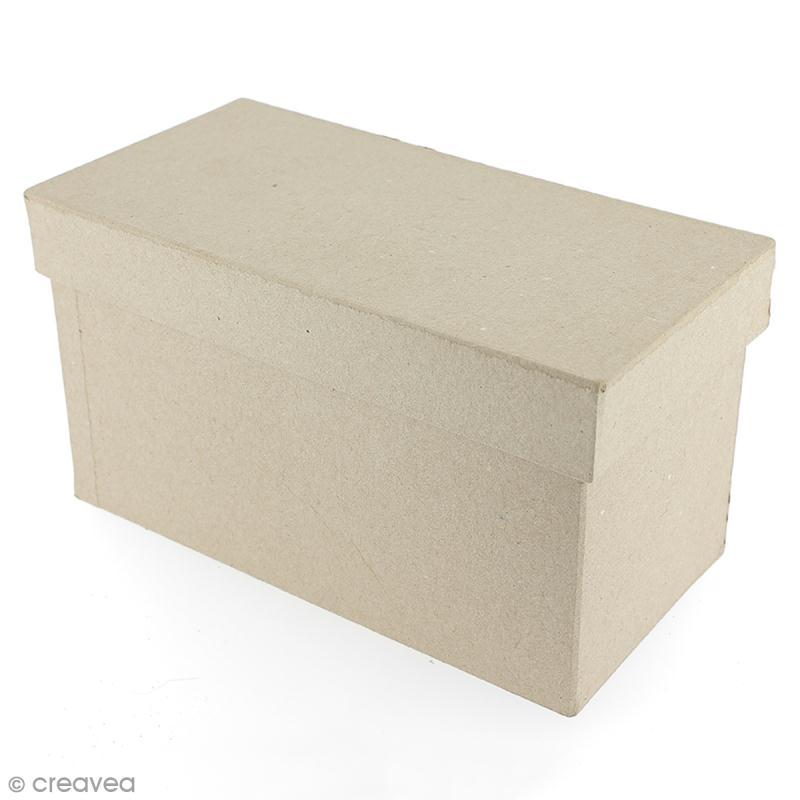 Boîte rectangulaire 18 x 8,5 cm à décorer - Photo n°1