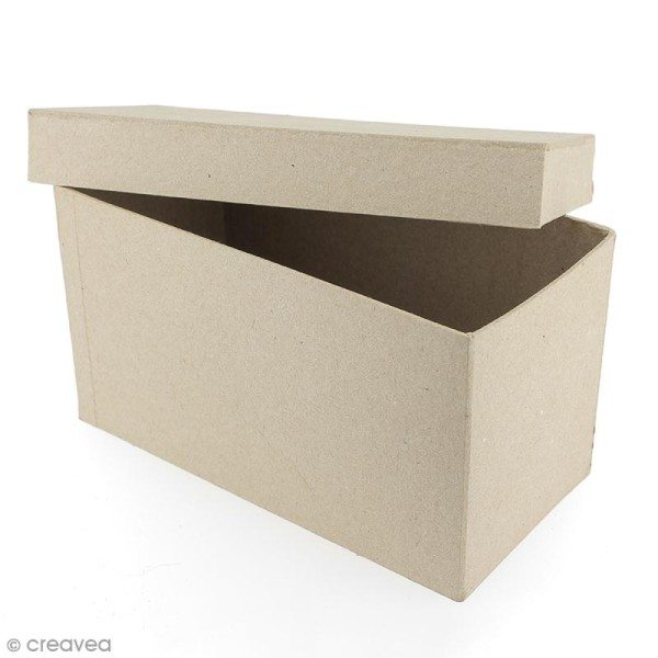 Boîte rectangulaire 18 x 8,5 cm à décorer - Photo n°2