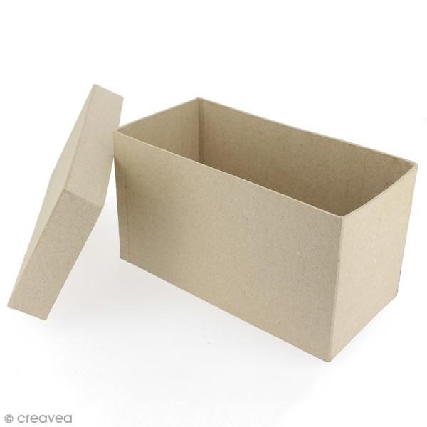 Boîte rectangulaire 18 x 8,5 cm à décorer - Photo n°3