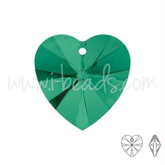 Pendentif Coeur Swarovski Emerald 10mm (2)