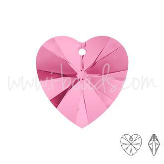 Pendentif Coeur Swarovski Rose 10mm (2)