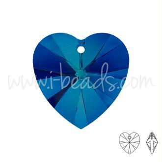 Pendentif Coeur Swarovski Crystal Bermuda Blue 10mm (2)