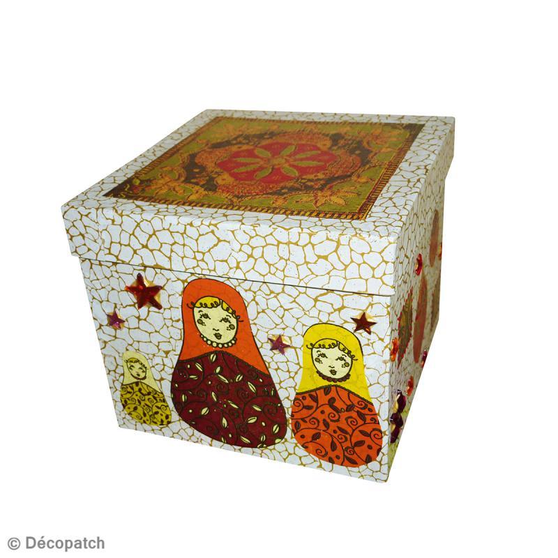 Boîte carrée 16 x 16 cm à décorer - Photo n°3