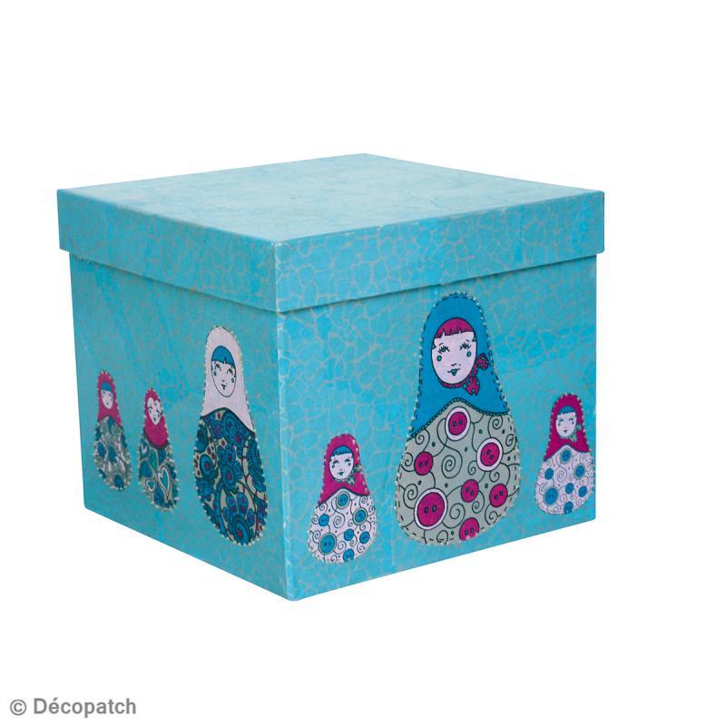 Boîte carrée 16 x 16 cm à décorer - Photo n°4