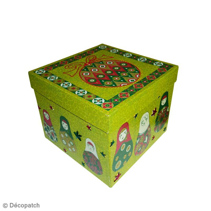 Boîte carrée 16 x 16 cm à décorer - Photo n°5