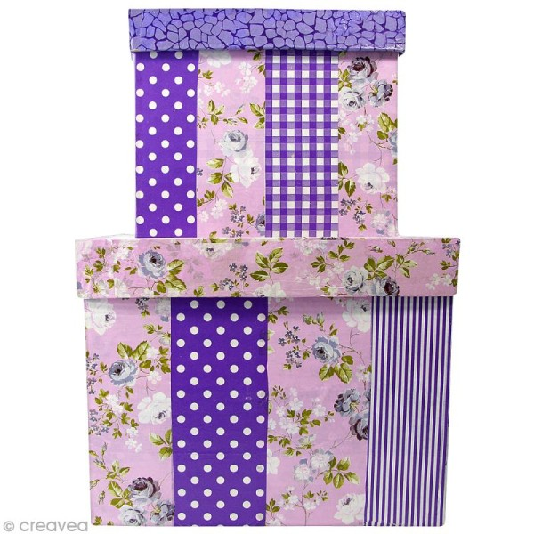 Boîte carrée 16 x 16 cm à décorer - Photo n°2