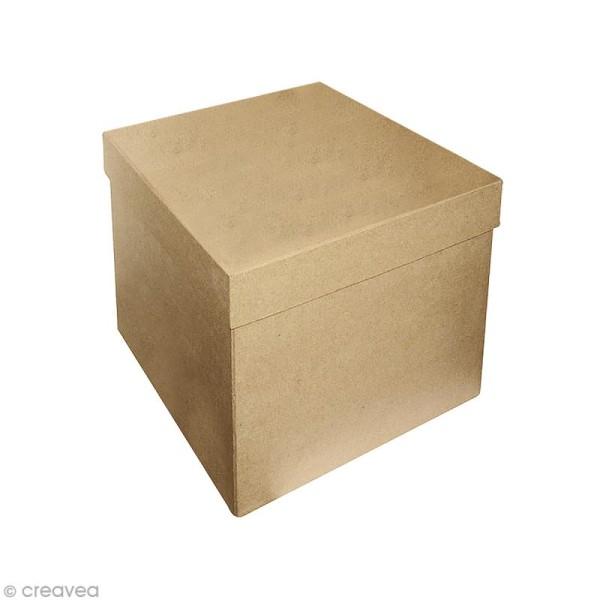 Boîte carrée 16 x 16 cm à décorer - Photo n°1
