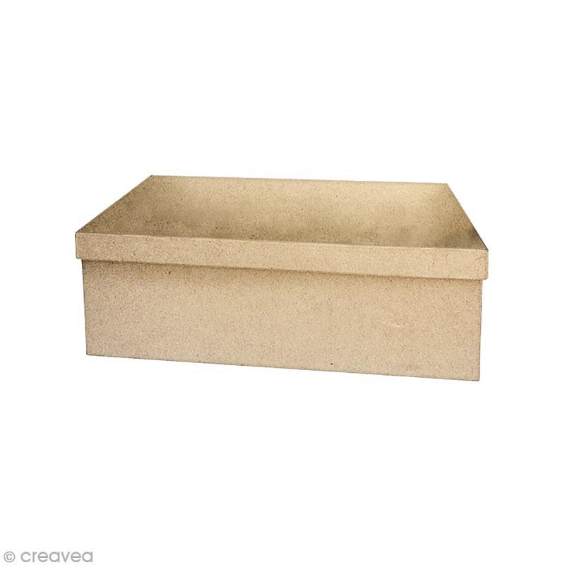 Boîte rectangle 22 x 13,5 cm à décorer - Photo n°1