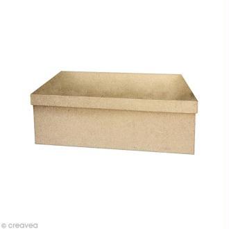 Boîte rectangle 22 x 13,5 cm à décorer