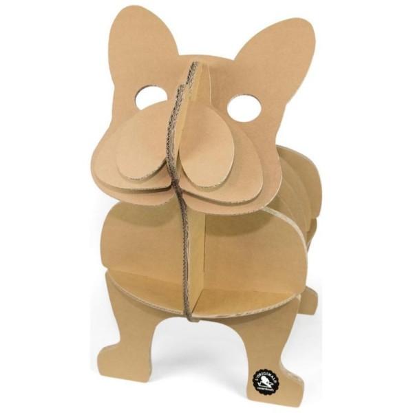 etag re chien bouledogue en carton fabriquer kraft 62cm. Black Bedroom Furniture Sets. Home Design Ideas