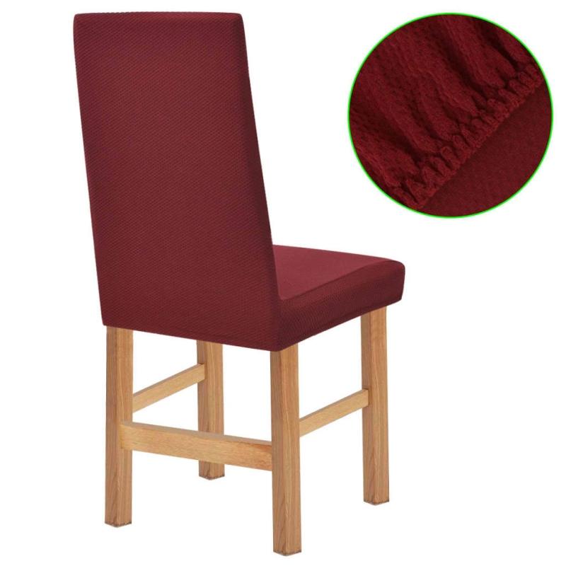 vidaxl housse extensible de chaise 6 pi ces piqu bordeaux. Black Bedroom Furniture Sets. Home Design Ideas
