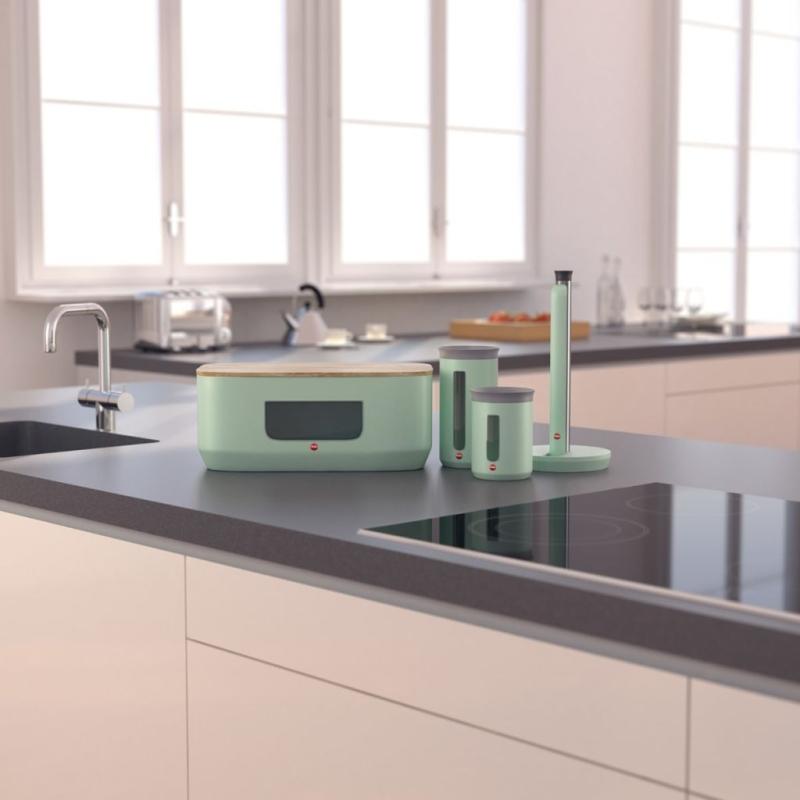 Hailo porte rouleau de cuisine kitchenline design menthe for Porte rouleau cuisine
