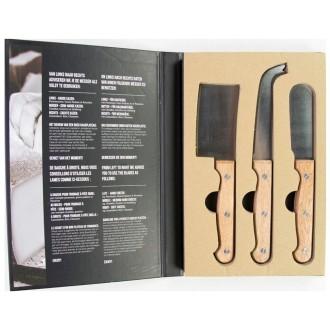 Gusta Jeu De Couteaux à Fromage 3 Pcs Métal Et Bois 01137490