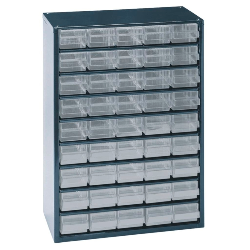 raaco casier de rangement 945 00 45 tiroirs 137454 quincaillerie creavea. Black Bedroom Furniture Sets. Home Design Ideas