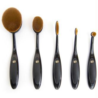 Rio Pack de cinq pièces de pinceaux de maquillage Ovale BROM