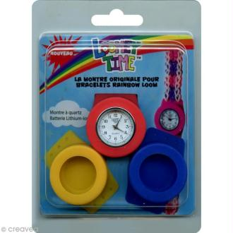 Montre et étuis Loomey Time - Bleu, jaune et rouge
