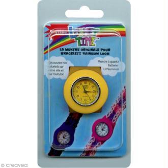 Montre Loomey Time pour bracelets élastiques - Jaune
