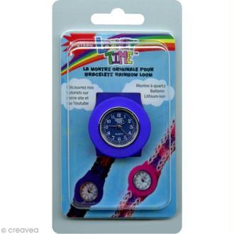 Montre Loomey Time pour bracelets élastiques - Bleu