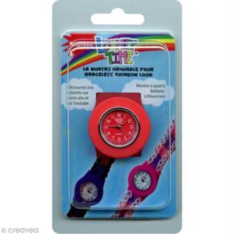 Montre Loomey Time pour bracelets élastiques - Rouge