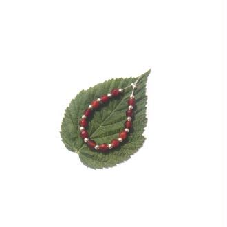Agate Feu : 13 perles facettées 4 MM de diamètre