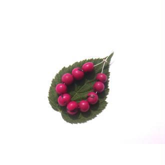 Açai Brésil teinté Fuchsia : 10 Perles Graines irrégulières 6/9 MM de diamètre