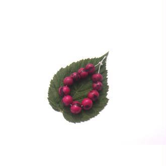 Açai Brésil teinté Fuchsia : 11 Perles Graines irrégulières 6/8 MM de diamètre