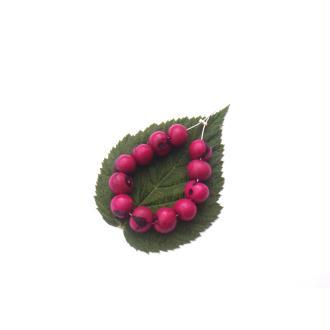 Açai Brésil teinté Fuchsia : 12 Perles Graines irrégulières 7/8 MM de diamètre