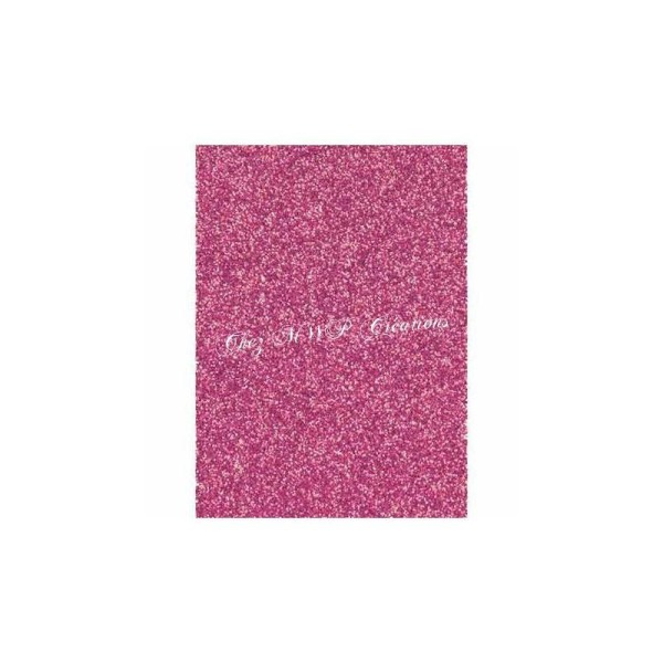 Papier Pailleté  280G - 20X30Cm - Rose - Photo n°1
