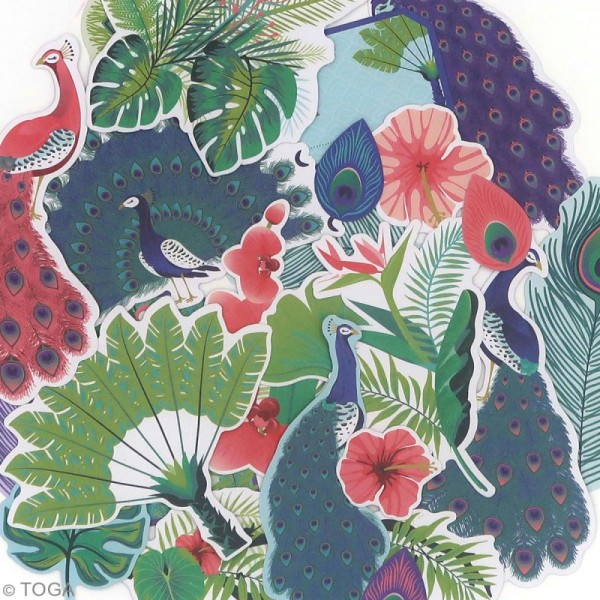 Die cut Toga - Paon - 51 pcs - Photo n°2