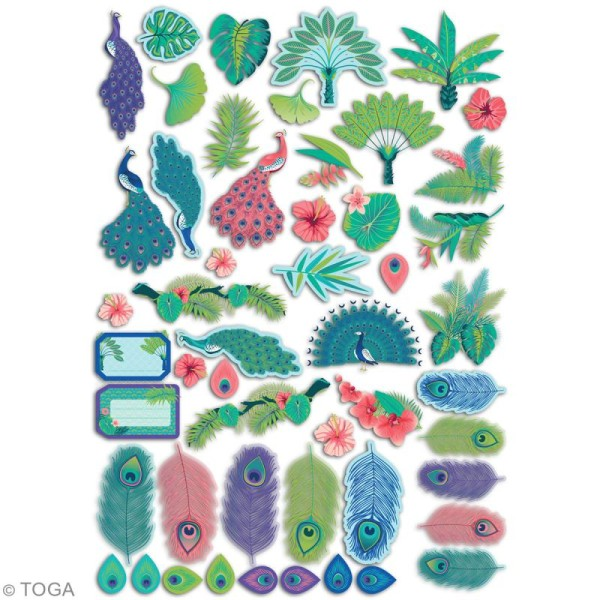 Die cut Toga - Paon - 51 pcs - Photo n°5