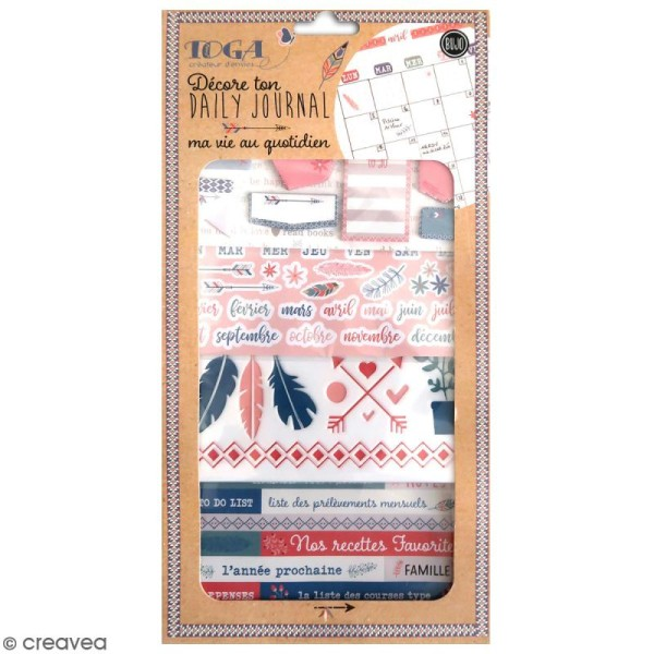 Kit Bullet Journal Toga - Vie quotidienne - 10 pcs - Photo n°1