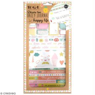 Kit Bullet Journal Toga - Happy life - 10 pcs