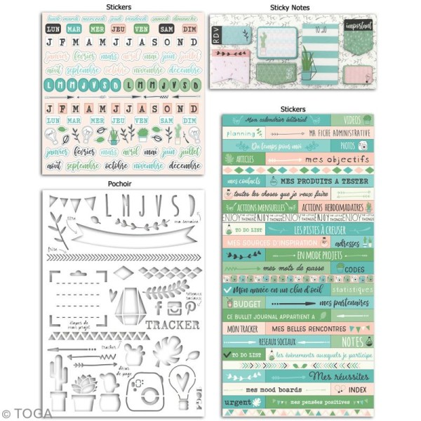 Kit Bullet Journal Toga - Mes projets - 10 pcs - Photo n°2
