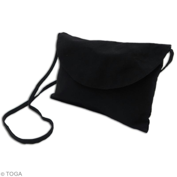 Pochette en tissu - Noir - 26 x 17 cm - Photo n°2