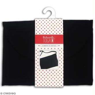 Pochette en tissu - Noir - 26 x 17 cm