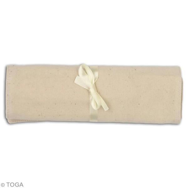 Trousse maquillage en tissu - Blanc cassé - 39 x 22 cm - Photo n°4