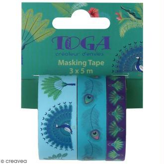 Masking tape Toga - Paon - 3 pcs
