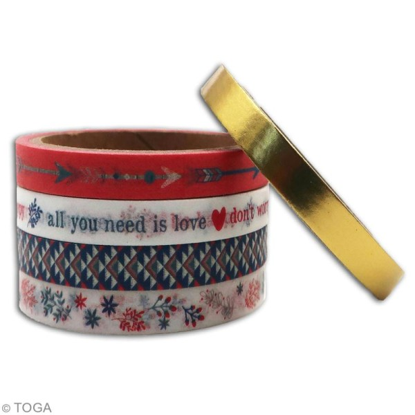 Masking tape slim Toga - Vie quotidienne - 5 pcs - Photo n°3