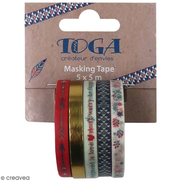 Masking tape slim Toga - Vie quotidienne - 5 pcs - Photo n°1