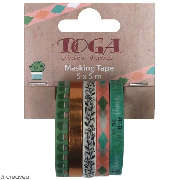 Masking tape slim Toga - Mes projets - 5 pcs - Photo n°1