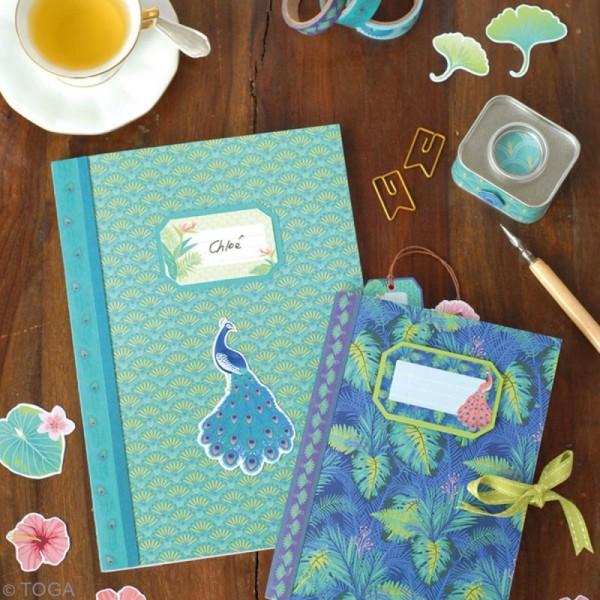 Papier scrapbooking A4 Toga - Color factory - Paon - 36 pcs - Photo n°4