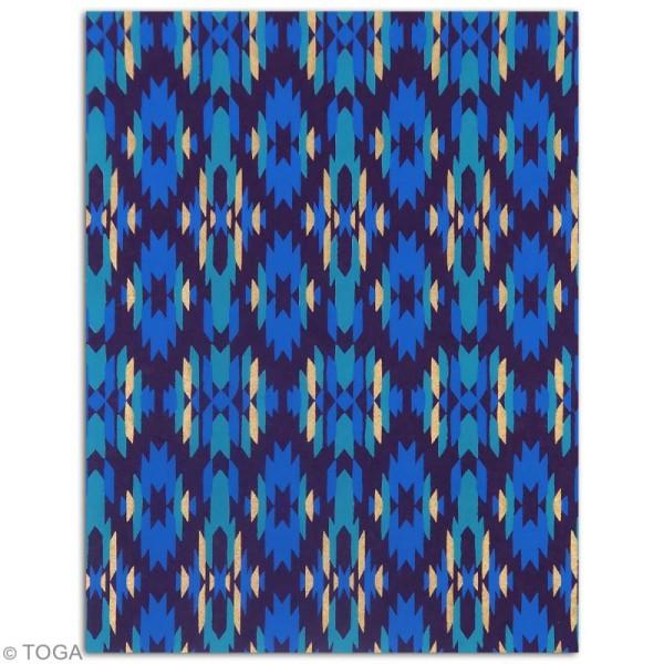 Papier l'Or de Bombay 27,8 x 21,2 cm - Bleu et Violet - 6 feuilles - Photo n°3