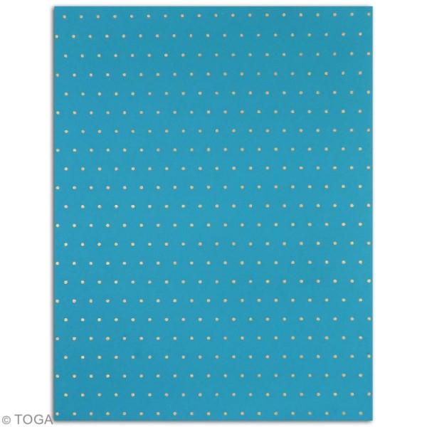 Papier l'Or de Bombay 27,8 x 21,2 cm - Bleu et Violet - 6 feuilles - Photo n°4