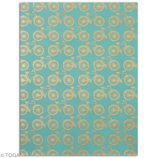 Papier l'Or de Bombay 27,8 x 21,2 cm - Bleu Azur - 6 feuilles - Photo n°6