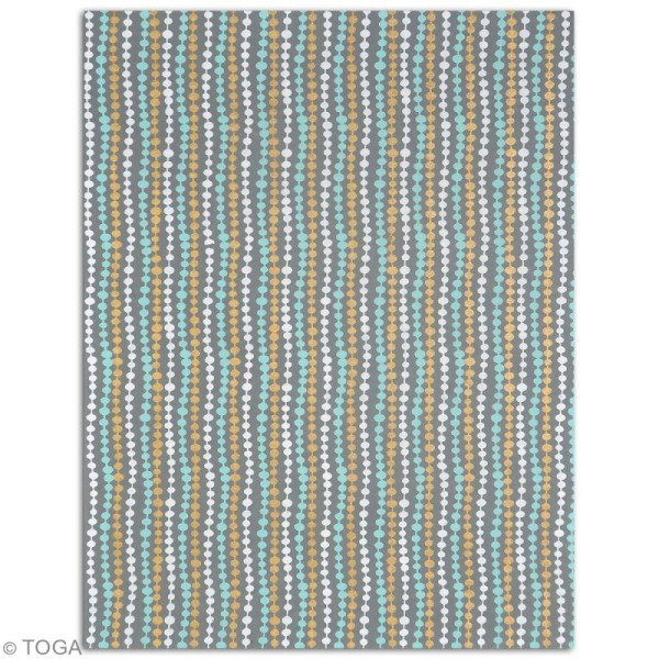 Papier l'Or de Bombay 27,8 x 21,2 cm - Noir et bleu - 6 feuilles - Photo n°2